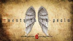 All sizes | Twenty Third Psalm | Flickr - Photo Sharing! #calligraphy #religious #photo #gothic #germany #angel #twenty #third #wings #psalm