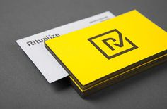 Ritualize Business Card #branding #business #card #design #graphic #letterpress #identity #newcastle #fitness #logo #shorthand #brandmark