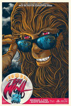 Teen Wolf movie poster #illustration #vector #movie poster #teen wolf
