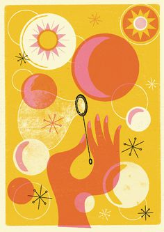 BUBBLES ART PRINT Telegramme #bubbles
