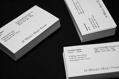 HWMR #print #letterpress #cards #business