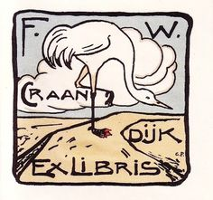 A Polar Bear's Tale: Gustaaf van de Wall Perné (1877-1911) #illustration #exlibris #vintage