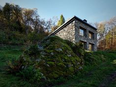 Old Ruin Transformed into a Spectacular Mountain Residence