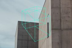 rize for Sculpture #branding #logo #wireframe #neon #green #turquoise #architecture