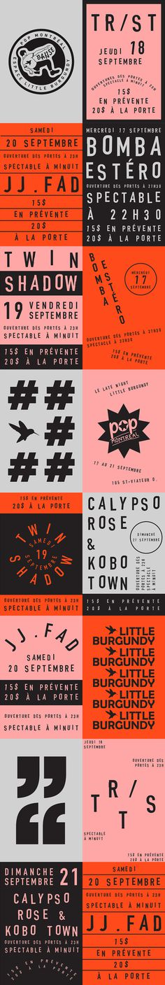 Espace Little Burgundy for POP Montreal on Behance