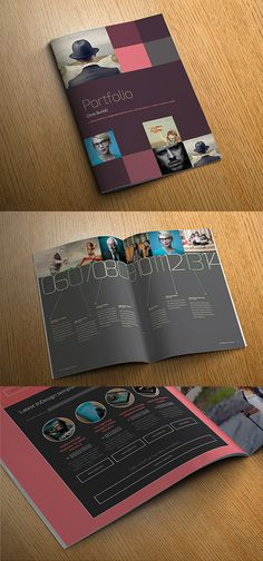 InDesign portfolio template #album #photo #portfolio #indesign #photography #brochure