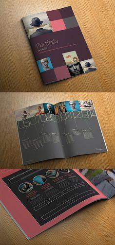 InDesign portfolio template #album #photo #portfolio #indesign #photography #brochure