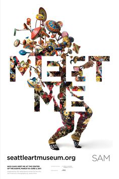 """Meet Me at the Center of the Earth"" exhibition wheat paste #typography #poster #graphic design #inspiration"