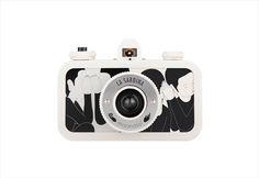 Lomography La Sardina Moonassi Edition Whisper #white #lomography #camera #graphic #black #illustration