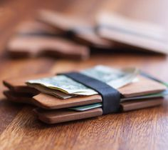 Reclaimed Cherry Wood Wallet by droolBo #tech #flow #gadget #gift #ideas #cool