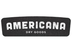 Dribbble - Americana Brand by Chandler Van De Water #type #lettering #logo