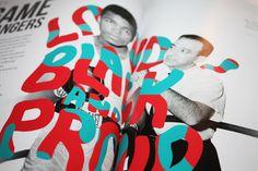Michael Arnold #arnold #michael #design #boxing #illustration #editorial #magazine #typography