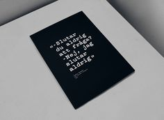Bergman Quote #branding #poster #cinema #quote #typewriter #patrice #barnab #verdi