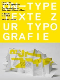 On—Type, Texte zur Typografie #type #poster