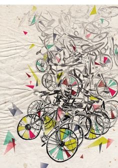 Shameless Issue : Fall 2010 : Alicia Fairclough | Designer | Illustrator #bikes #fairclough #color #geometric #bicycles #illustration #alicia #drawing