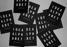 Idea Alphabet #negative #print #book #space #foil