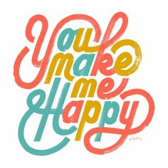 Friends of Type #illustration #script #happy #typography
