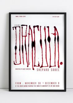 "Dracula poster :: Ink lettering 24x32"" / Santa Fe, NM"