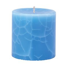 Crackle Pillar Lotus Flower & Topaz Water Scented Candle, 7 x 7 cm