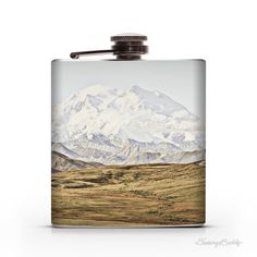 Alaskan Mountains 6oz Whiskey Hip Flask #mountains #alaska #flask #hip flask