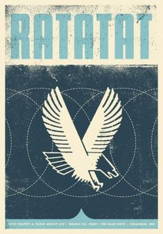 Ratatat : Garrett Karol #design #poster #screenprint #screenprinting #gigposter