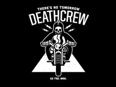 Ride like there's no tomorrow #white #gang #black #vintage #bike #skull #death #motorcycle