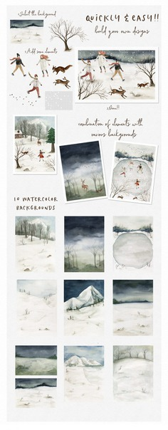 Fantastic Holiday-Winter collection ~ Illustrations