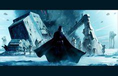 Vader on Hoth by ~Livio27 on deviantART #wars #vader #star #darth #hoth