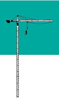 """Acrophobia rehab"" #crane #design #lift #blue #hanging"