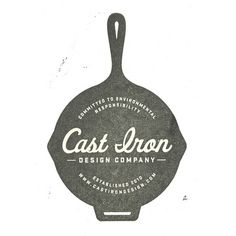 Cast Iron Design Company Logo Stamp
