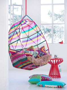bright basket chair #chair #color #want #neon