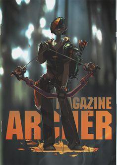 ArtStation - archer magazine, Ivan Pozdnyakov #archer #style #comic #girl
