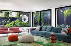 Colorful and Vibrant Home Interior by Guilherme Torres Architects - #decor, #interior, #homedecor, home decor, interior design