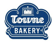 Dribbble - Towne Bakery by Tim Frame #cake #bakery #towne #icon #sign #logo #blue #neon