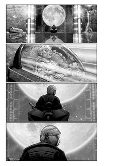 These unused American Akira storyboards are actually quite gorgeous #akira #illustration #storyboards #movies