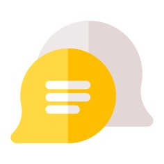 See more icon inspiration related to talk, chat, chat bubble, conversation, communications, speech bubble, message and interface on Flaticon.