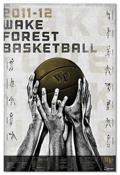 Wake Forest Basketball promotional campaign #basketball #design #poster
