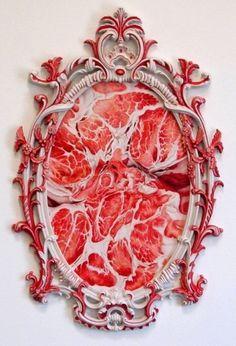 Enjoying This #frame #meat #contemporay #art