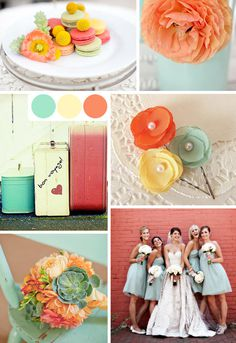 seafoamtangerineyellow #colors #photograph #party