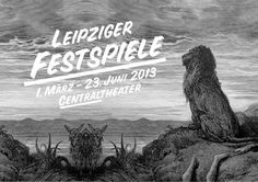 Leipziger Festspiele Poster #white #black #and