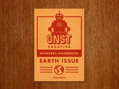 Onst_creative_notebook #creative #onst #robot #screenprint #illustration