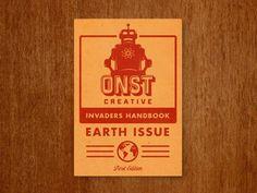 Onst_creative_notebook #creative #onst #robot #screenprint #illustration