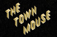 The Town Mouse #design #graphic #type #logo #3d #typography
