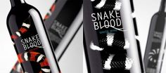 Wine set on the Behance Network #blood #snake