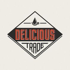 Delicious Trade - justlucky #coffee #logo #retro