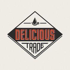 Delicious Trade - justlucky #coffee #logo #retro