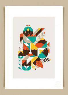 LouLou & Tummie - Defringe #illustration #poster