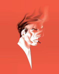 @rubengerard #portrait #illustration #smoke