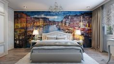 Would you like a painted wall in your bedroom - www.homeworlddesign. com (4) #bedroom #decor #design #wall #painting