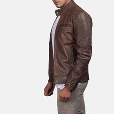 Dean Brown Biker Brown Leather Jacket – Top Leather Jackets